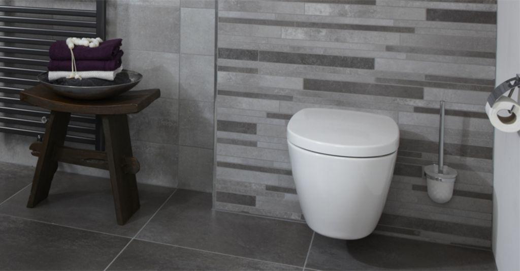 Wc voorbeelden. grotere douchehoek met dichte muur bad weg wastafel