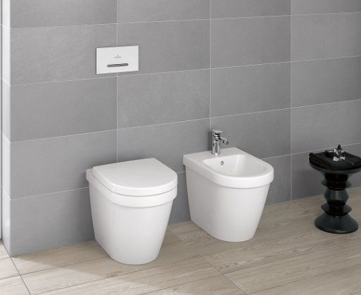 Back to wall toilet renovatie in moderne badkamer - Villeroy & Boch